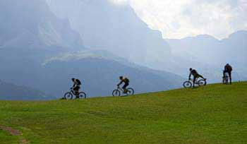 Mountainbiker in den Alpen  / Bild Nr. 35577500
